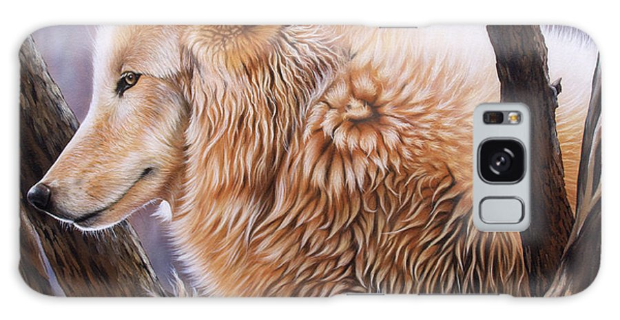 Acrylic Galaxy S8 Case featuring the painting The Daystar by Sandi Baker