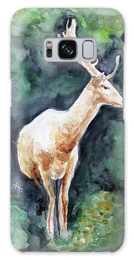 Deer Galaxy S8 Case featuring the painting The Deer by Anna Marinova