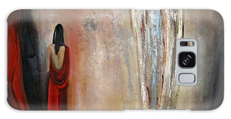 Angels Galaxy S8 Case featuring the painting The Devine Messenger by Niki Sands