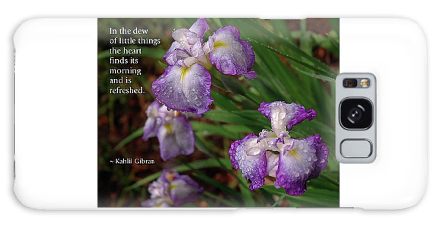 Iris Galaxy S8 Case featuring the photograph The Dew Of Little Things by Marie Hicks