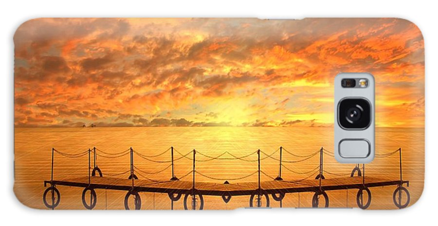 Waterscape Galaxy Case featuring the photograph The Dock by Jacky Gerritsen