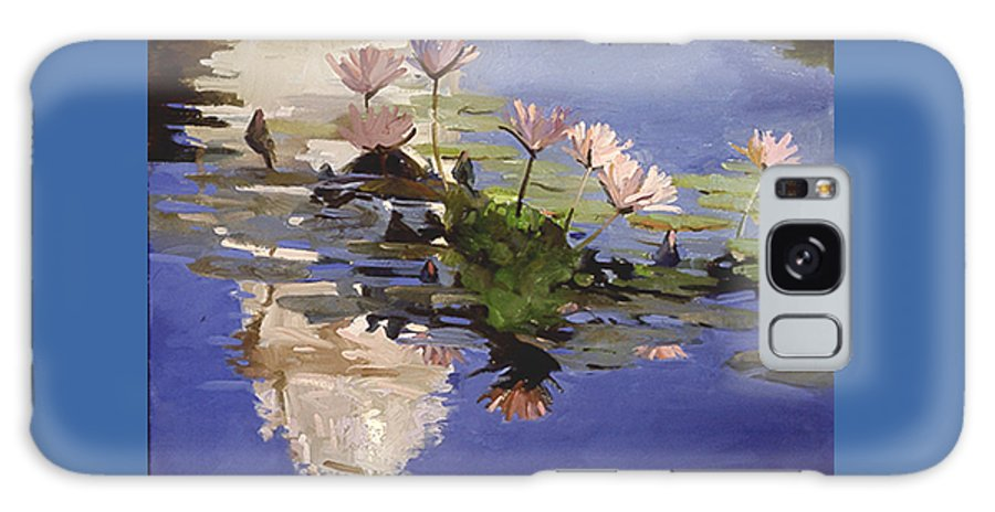 Water Lilies Galaxy S8 Case featuring the painting The Dome - Water Lilies by Betty Jean Billups
