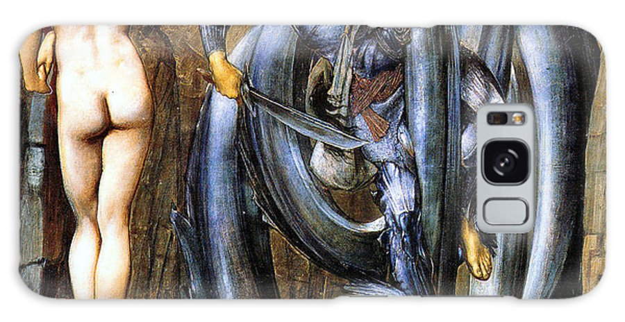 The Perseus Series Galaxy S8 Case featuring the digital art The Doom Fulfilled by Edward Coley Burne-Jones