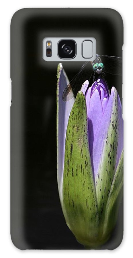 Bud Galaxy S8 Case featuring the photograph The Dragonfly And The Water Lily by Sabrina L Ryan