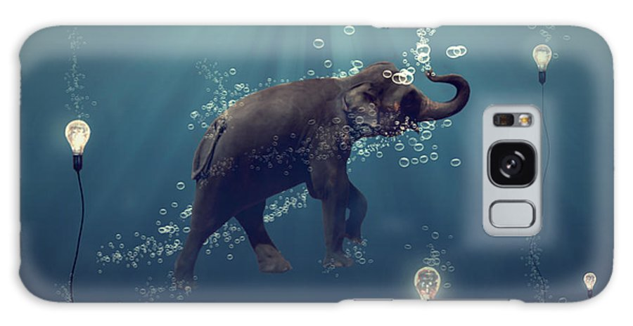 Elephant Galaxy Case featuring the photograph The Dreamer by Martine Roch