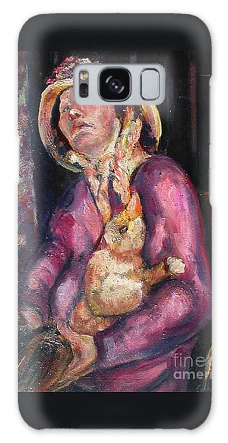 New Orleans Character Galaxy S8 Case featuring the painting The Duck Girl by Beverly Boulet