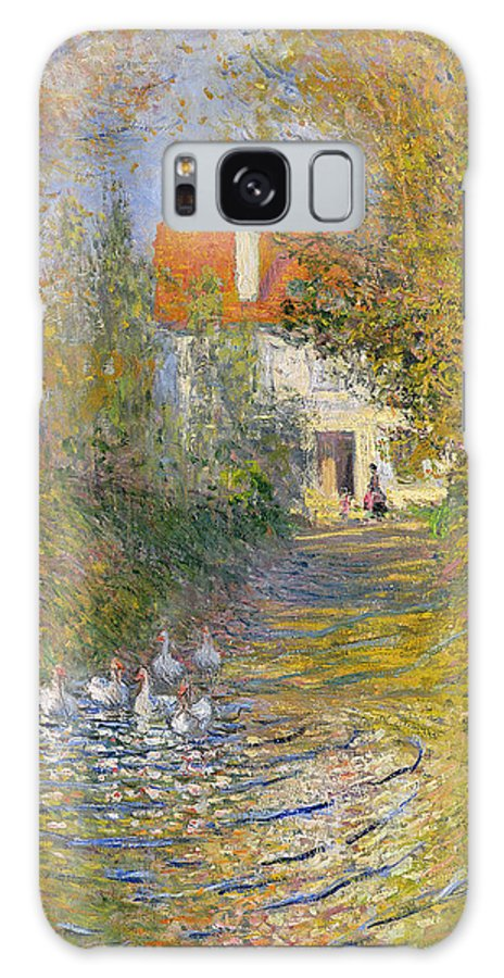 French Galaxy Case featuring the painting The Duck Pond by Claude Monet
