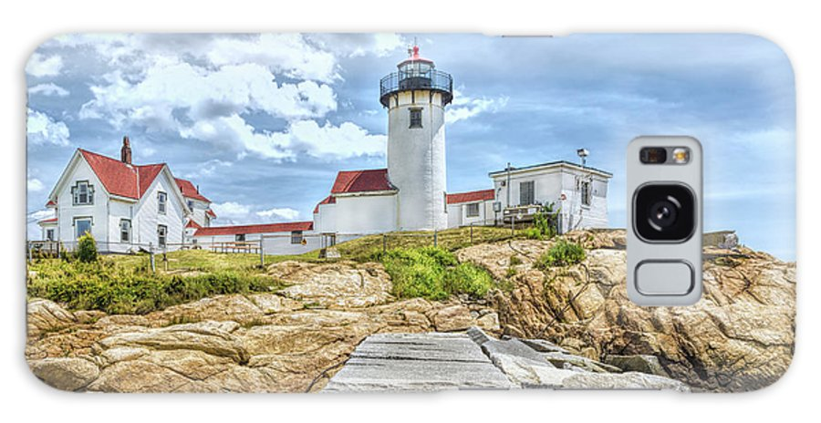 John Bailey Galaxy S8 Case featuring the photograph The Eastern Point Lighthouse In Gloucester by John M Bailey