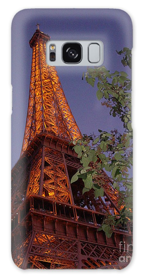 Tower Galaxy Case featuring the photograph The Eiffel Tower Aglow by Nadine Rippelmeyer