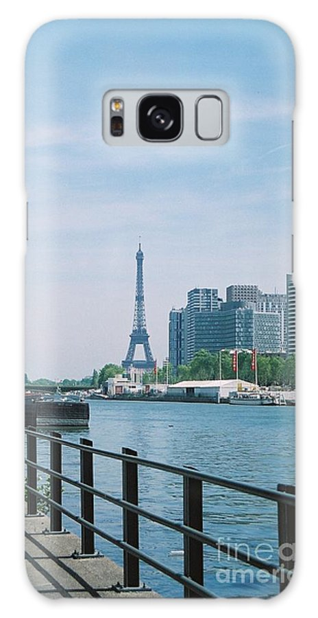 The Eiffel Tower Galaxy S8 Case featuring the photograph The Eiffel Tower And The Seine River by Nadine Rippelmeyer