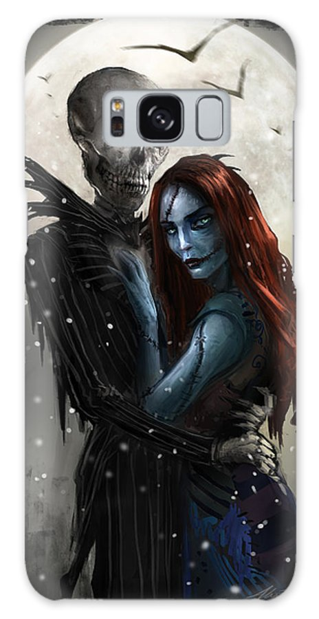 Nightmare Before Christmas Galaxy S8 Case featuring the digital art The Embrace V1 by Alex Ruiz
