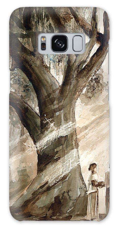 People Galaxy S8 Case featuring the painting The Encounter by Arline Wagner