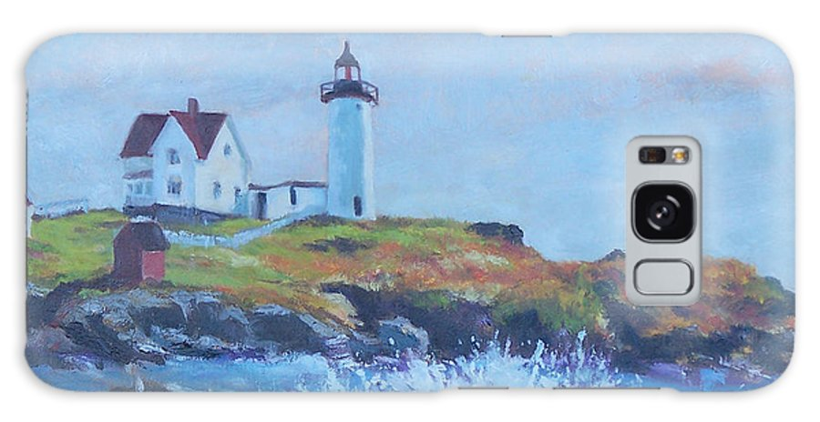 Coastal Galaxy Case featuring the painting The End Of Summer- Cape Neddick Maine by Alicia Drakiotes