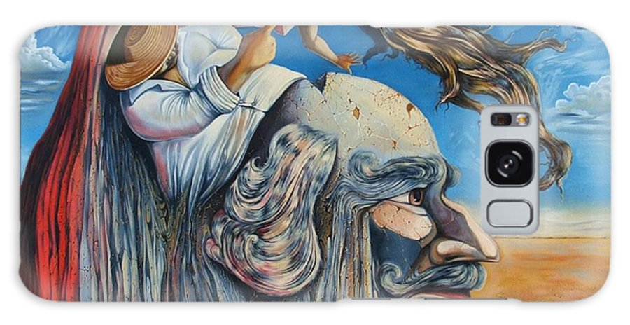 Surrealism Galaxy S8 Case featuring the painting The Eternal Obsession Of Don Quijote by Darwin Leon