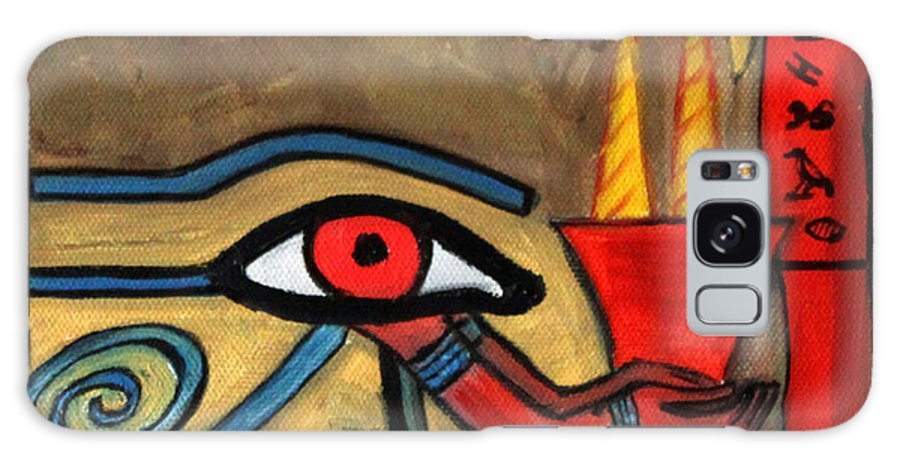 Healing Galaxy Case featuring the painting The Eye Of Horus by Pilar Martinez-Byrne