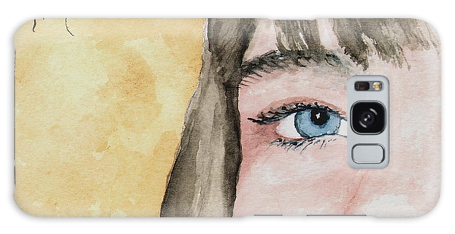 Eye Galaxy S8 Case featuring the painting The Eyes Have It - Bryanna by Sam Sidders