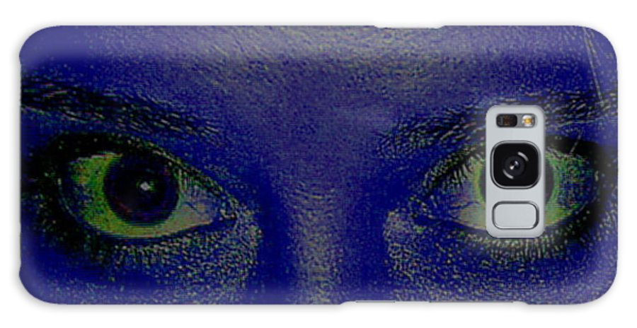Blue Galaxy S8 Case featuring the photograph The Eys Have It-abstract by Debbie May
