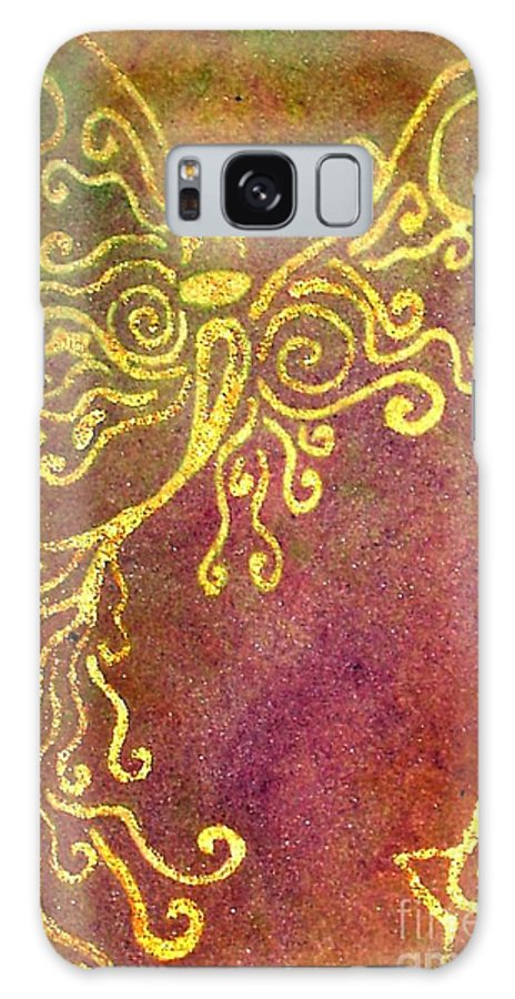 Fairy's Galaxy Case featuring the painting The Fairy Prince by Chandelle Hazen