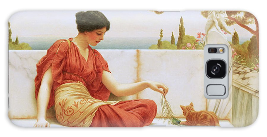 The Favourite Galaxy S8 Case featuring the painting The Favourite by John William Godward