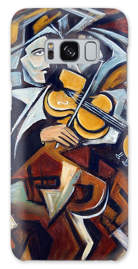 Musician Galaxy Case featuring the painting The Fiddler by Valerie Vescovi