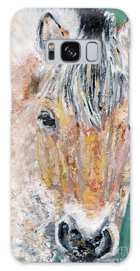Fijord Horse Galaxy Case featuring the painting The Fijord by Frances Marino