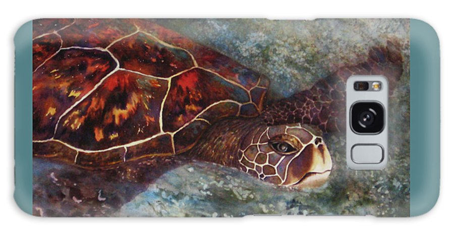 Honu Galaxy S8 Case featuring the painting The First Honu by Kerri Ligatich