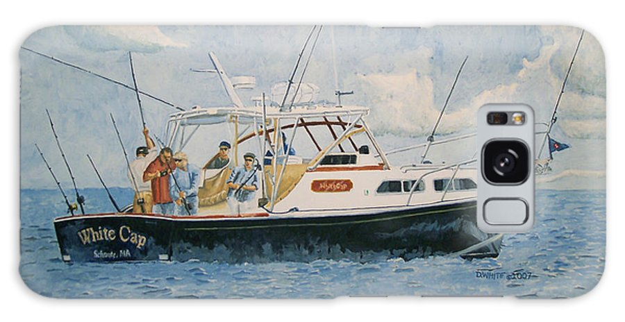 Fishing Galaxy Case featuring the painting The Fishing Charter - Cape Cod Bay by Dominic White