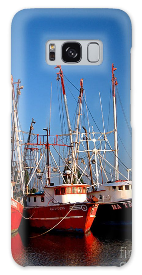 Boats Galaxy S8 Case featuring the photograph The Fleet Freeport Texas by Mark Grayden