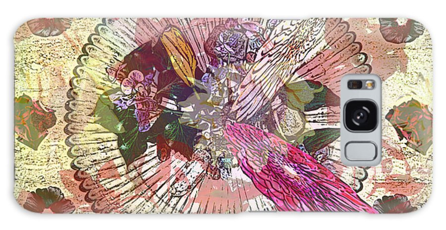 Flowers Galaxy S8 Case featuring the digital art The Flowerclock by Helmut Rottler