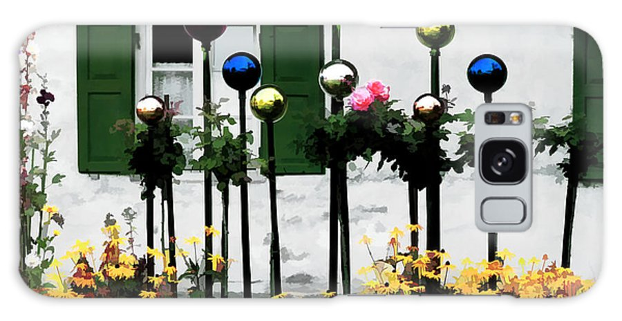 Gazing Balls Galaxy S8 Case featuring the photograph The Flowers And The Balls by Mike Nellums