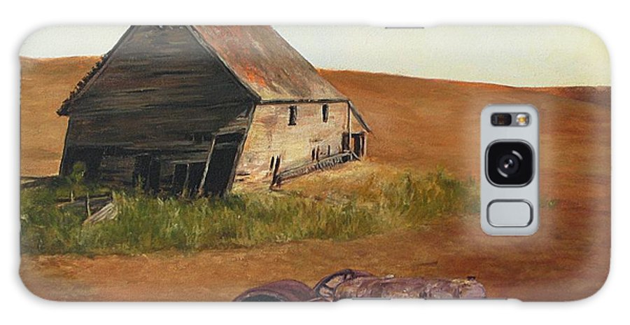 Oil Paintings Galaxy Case featuring the painting The Forgotten Farm by Chris Neil Smith