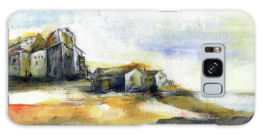 Abstract Landscape Galaxy S8 Case featuring the painting The Fortress by Aniko Hencz