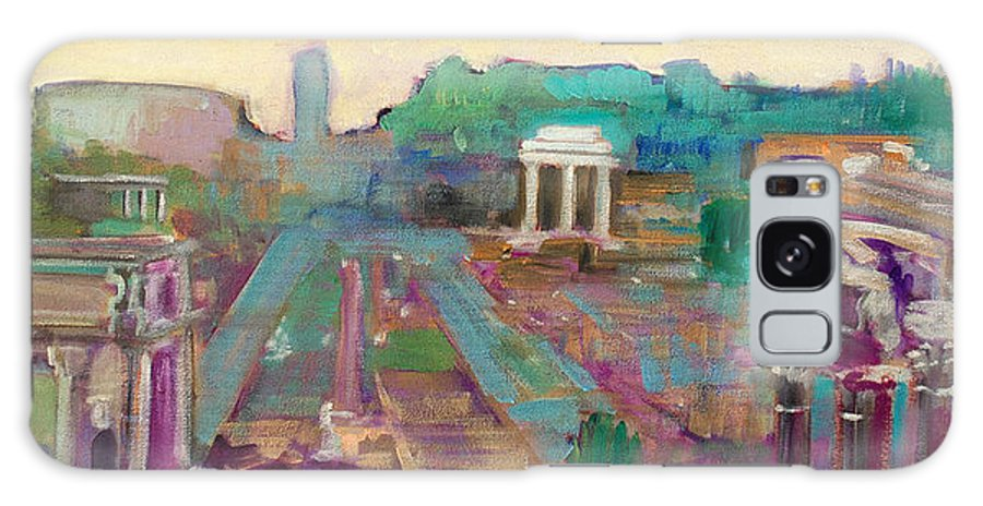 Rome Galaxy S8 Case featuring the painting The Forum Romanum by Kurt Hausmann