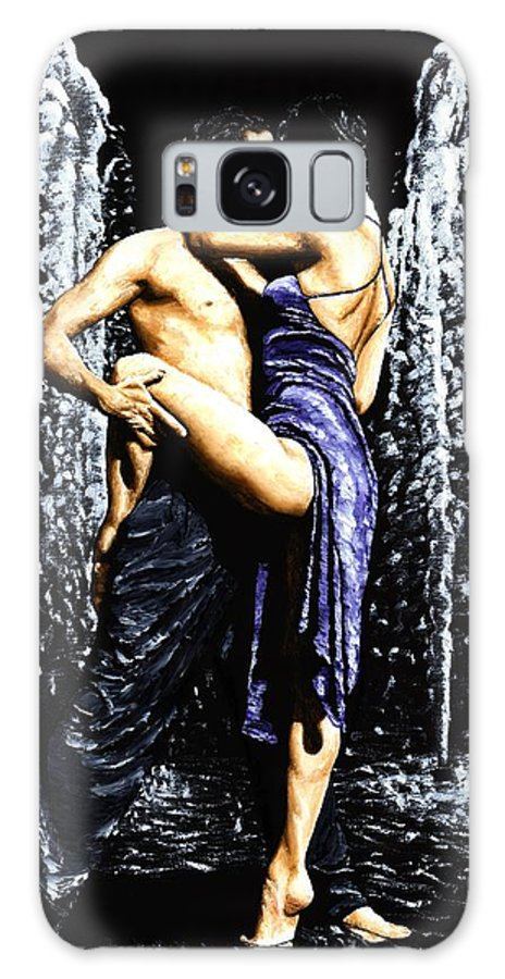 Tango Galaxy S8 Case featuring the painting The Fountain Of Tango by Richard Young