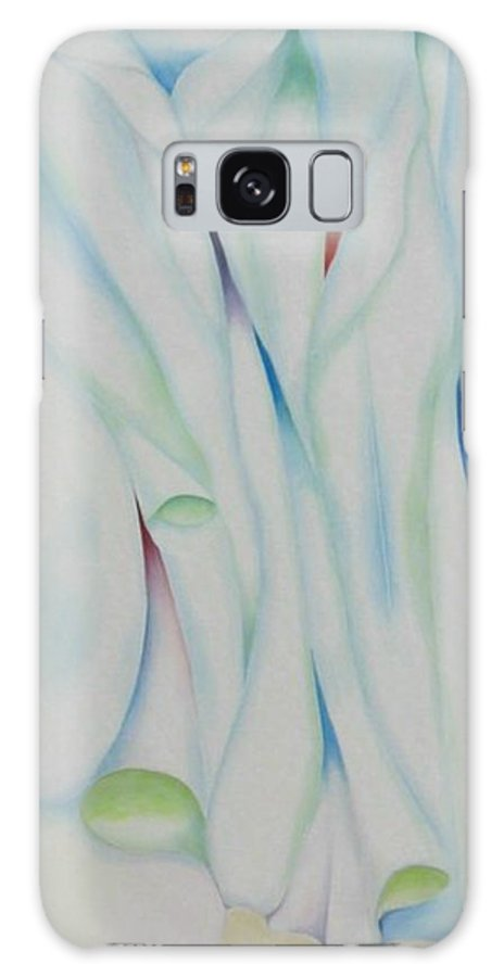 Oil Galaxy Case featuring the painting The Function by Peggy Guichu
