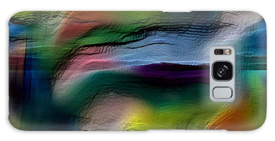 Abstract Galaxy S8 Case featuring the digital art The Future Looks Bright by Ruth Palmer