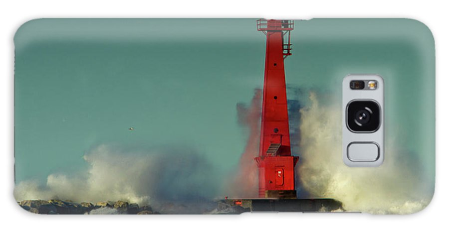 Photography Galaxy S8 Case featuring the photograph The Gale Of October II by Frederic A Reinecke