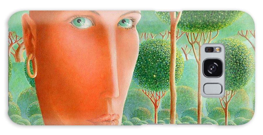 Giuseppe Mariotti Galaxy S8 Case featuring the painting The Garden by Giuseppe Mariotti