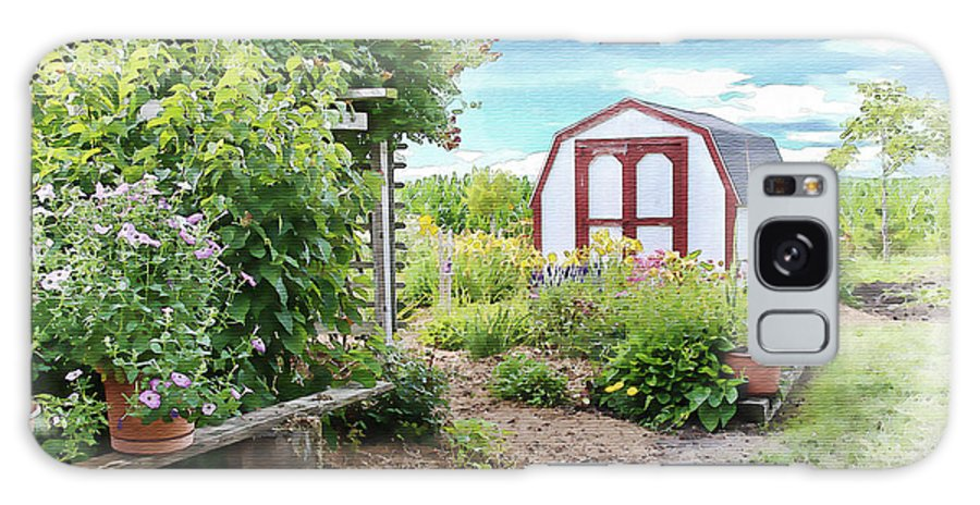 Gardens Galaxy S8 Case featuring the digital art The Garden Shed by Tom Schmidt