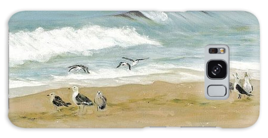 Beach Galaxy S8 Case featuring the painting The Gathering by Deborah Butts