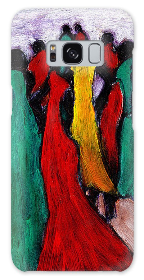 Black Art Galaxy Case featuring the painting The Gathering by Wayne Potrafka