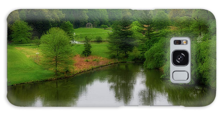 Meadowlark Botanical Gardens From The Lift Galaxy Case featuring the photograph The Gazebo On The Spiral Path by Tom Stovall Sr