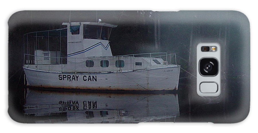 Boat Galaxy Case featuring the painting The Ghost Ship by Debbie May