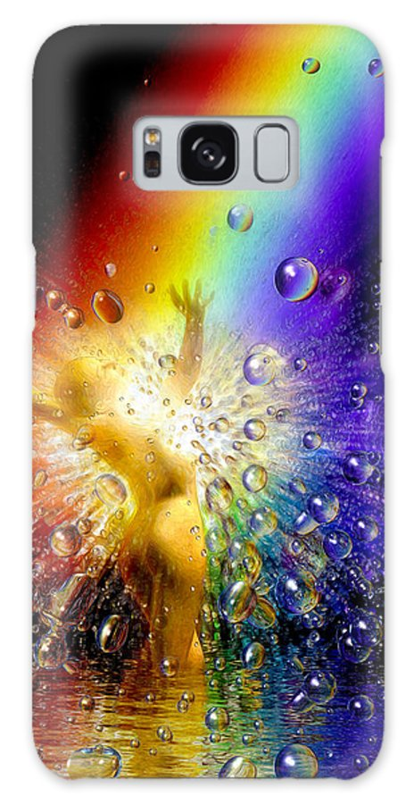 Galaxy S8 Case featuring the painting The Gold At The End Of The Rainbow by Robby Donaghey