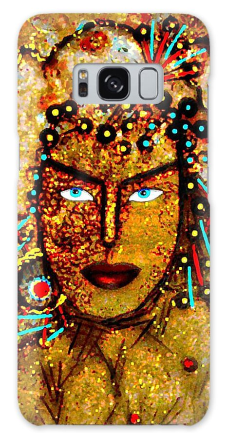 Goddess Galaxy Case featuring the painting The Golden Goddess by Natalie Holland