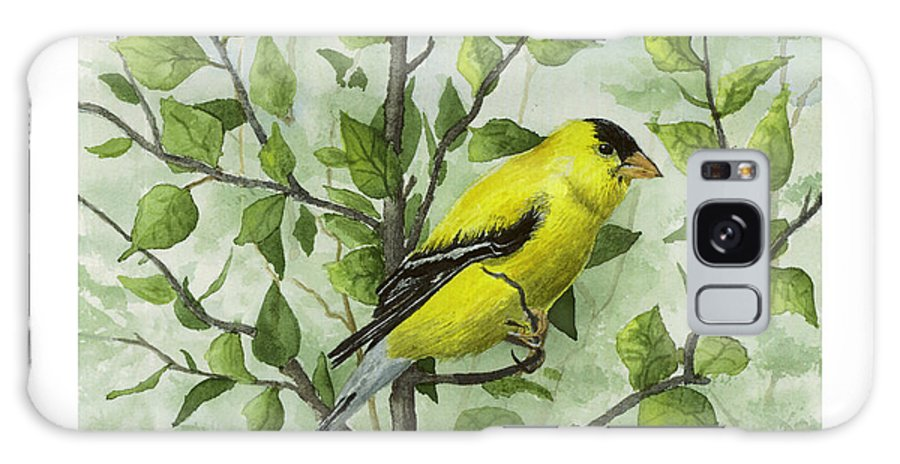 Birds Galaxy S8 Case featuring the painting The Goldfinch by Mary Tuomi