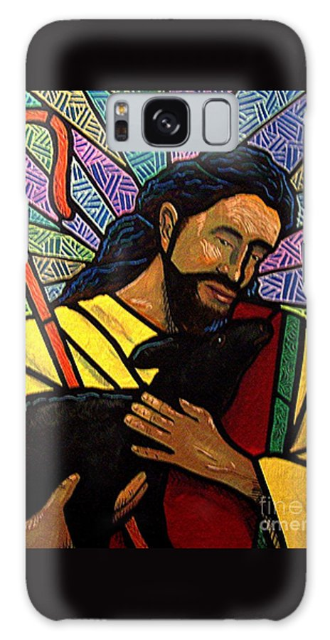 Jesus Galaxy Case featuring the painting The Good Shepherd - Practice Painting One by Jim Harris