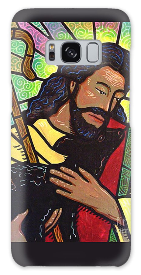 Jesus Galaxy S8 Case featuring the painting The Good Shepherd - Practice Painting Two by Jim Harris