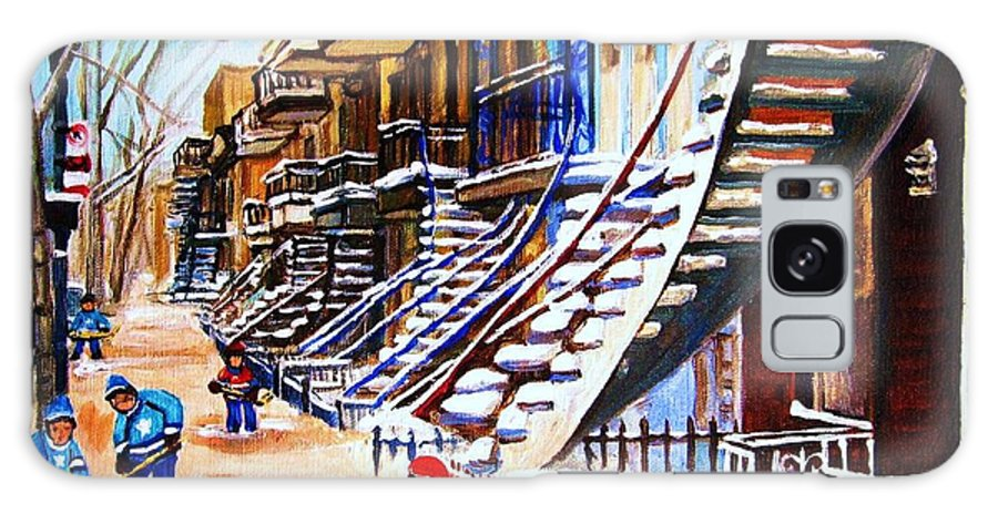 Hockey Galaxy Case featuring the painting The Gray Staircase by Carole Spandau