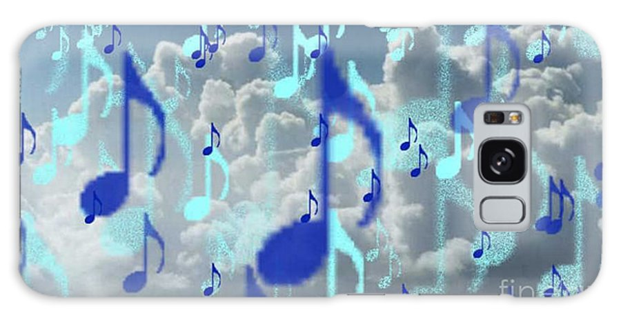 Galaxy Case featuring the digital art The Greater Clouds Of Witnesses We Love The Blues Too by Brenda L Spencer
